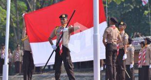 Upacara Peringatan Hari Pramuka ke 58, di Bumi Perkemahan, Karangkitri, Bojongmangu. FOTO: Istimewa/ Humas Pemab Bekasi.