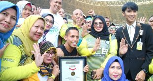 Pemerintah Kota Bekasi cetak rekor muri Senam Sparko, Selasa (6/08/2019). FOto: Humas/Istimewa