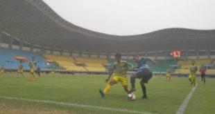 Laga 8 Besar Liga 3 seri I Jawa Barat Patriot Candrabhaga Kota Bekasi melawan Persikasi Kabupaten Bekasi di Stadion Patriot. FOTO: Istimewa/ Fakta Bekasi.